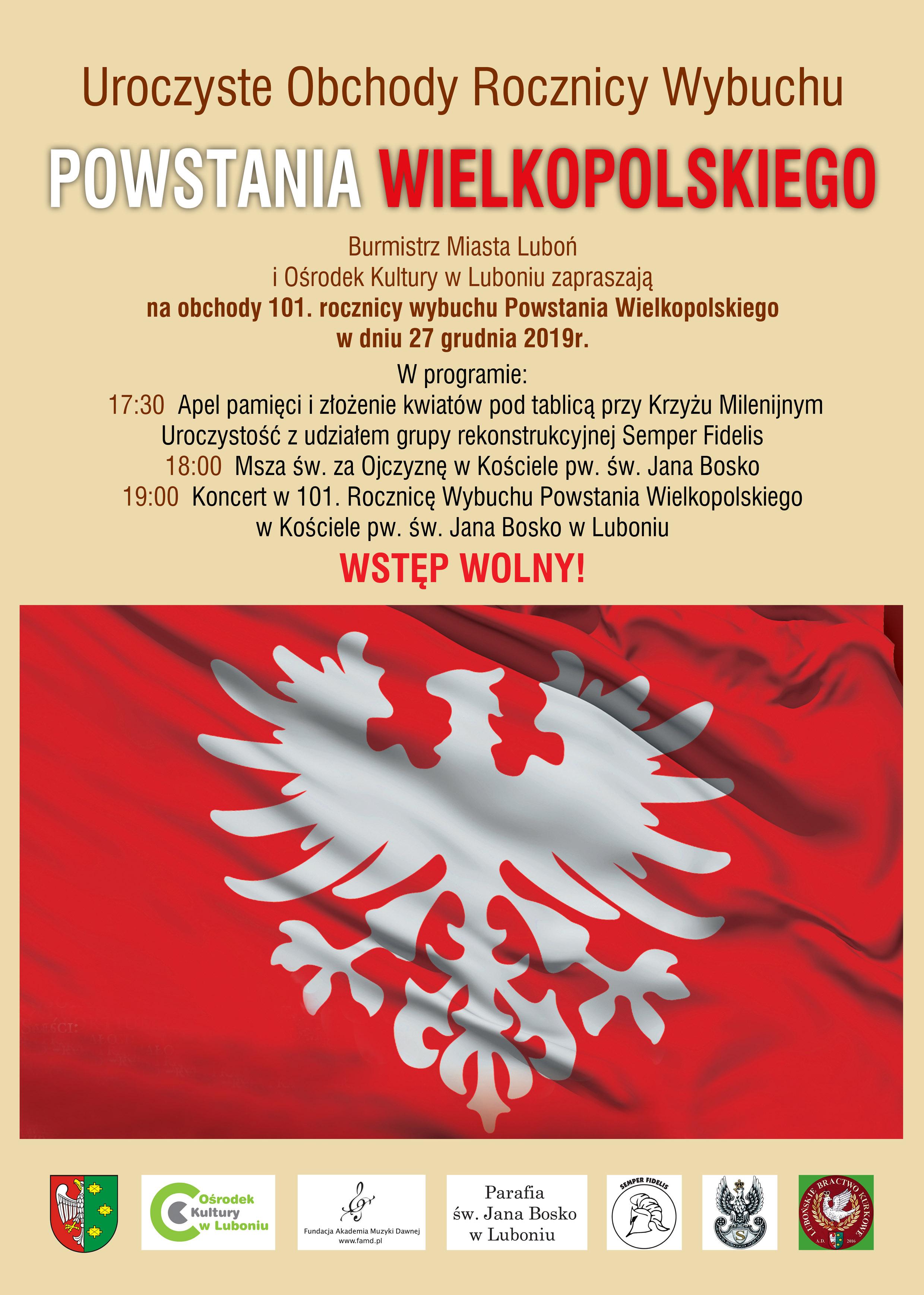 Obchody 101. rocznicy wybuchu Powstania Wielkopolskiego