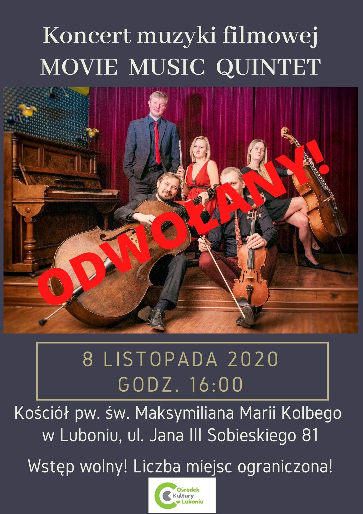 Koncert muzyki filmowej - odwołany!