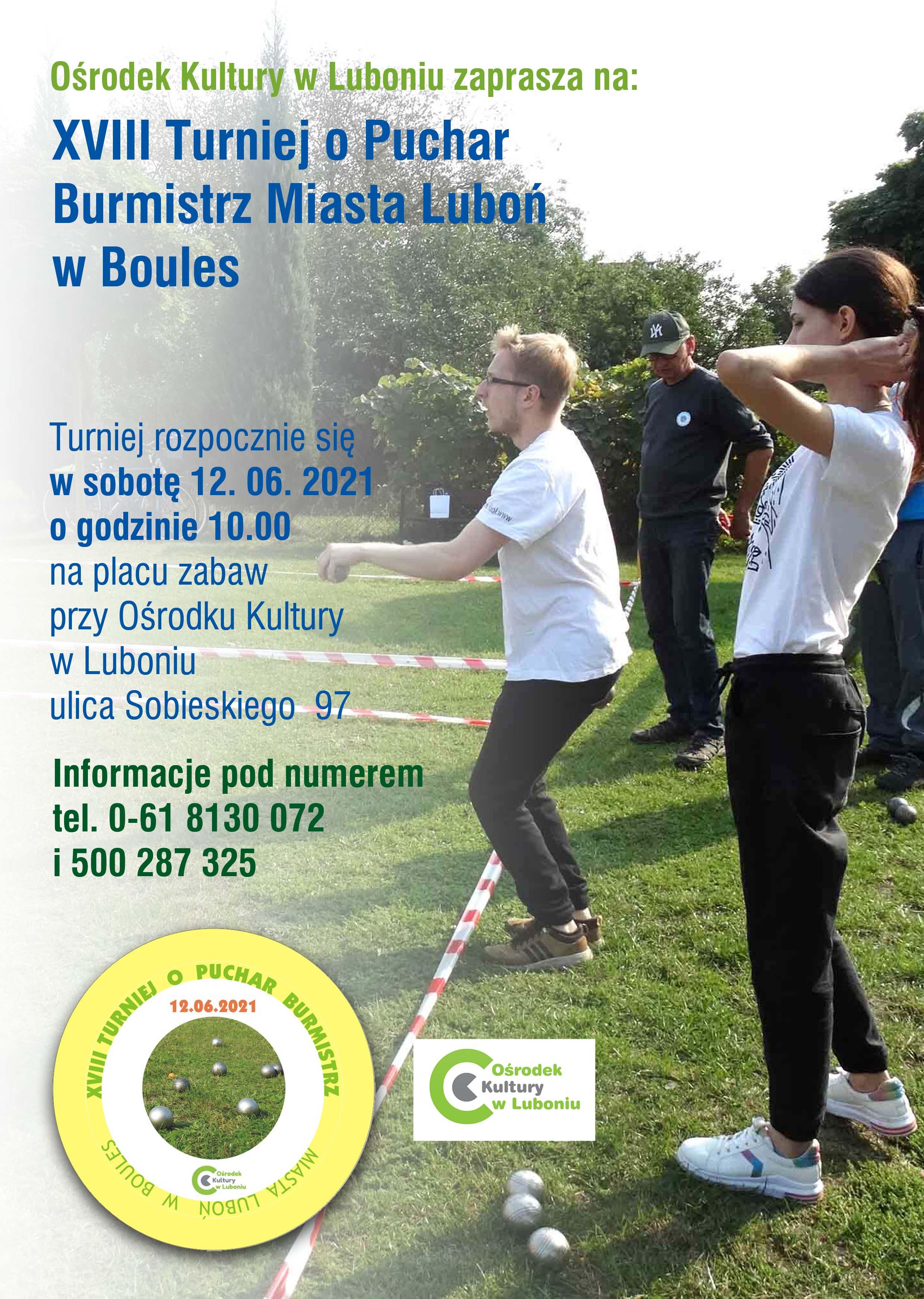 XVIII Turniej o Puchar Burmistrz Miasta Luboń w Boules