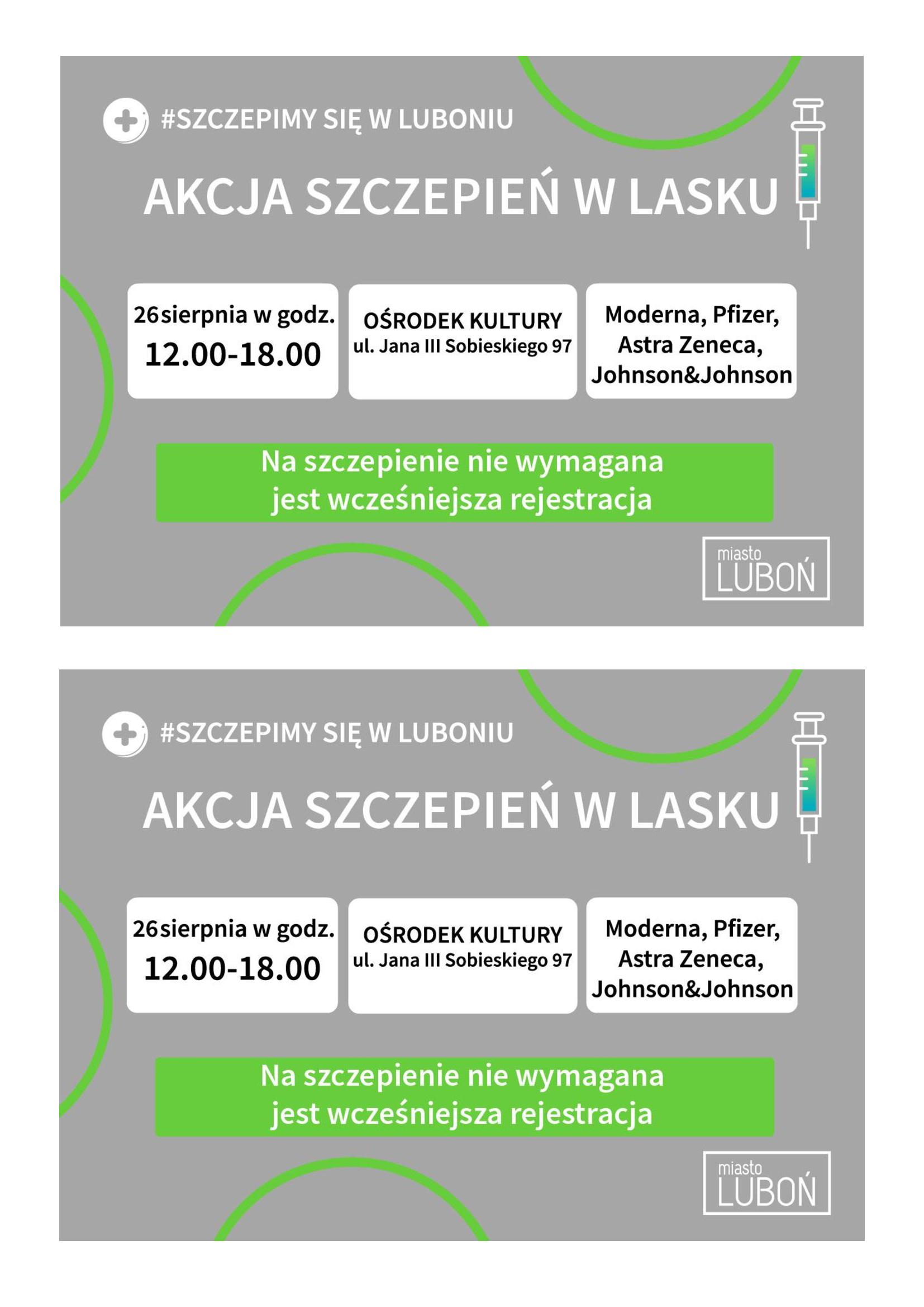 Akcja szczepień w Ośrodku Kultury