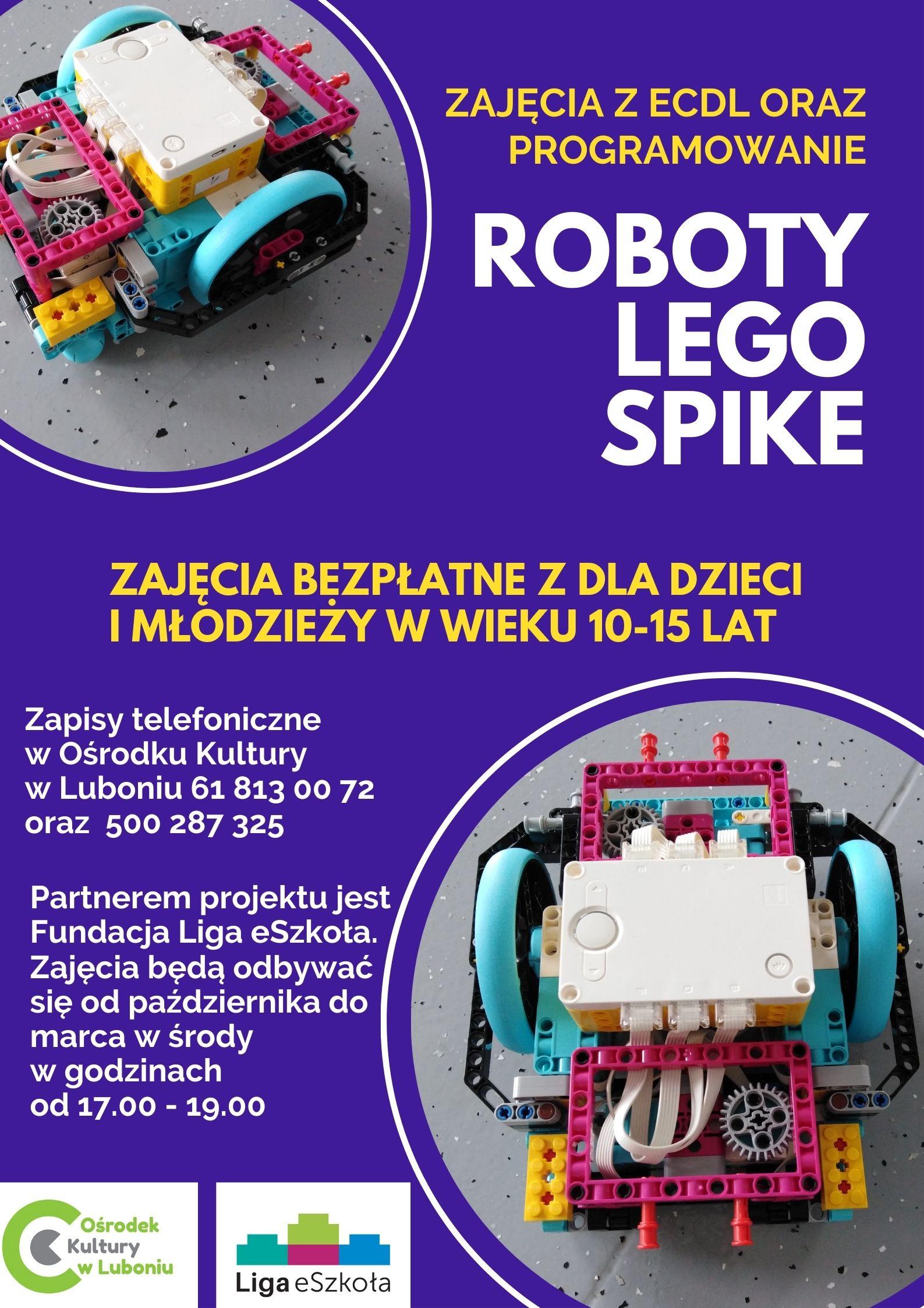 Zajęcia z programowania robotów Lego Spike