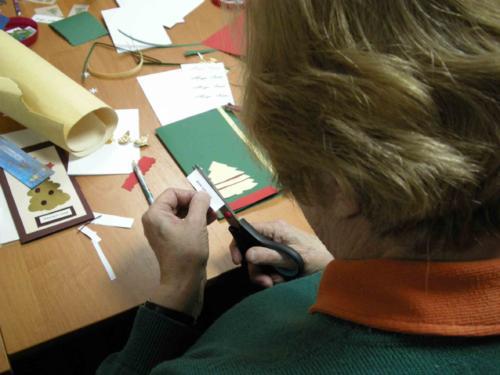 Warsztaty tworzenia kartek świątecznych dla LUTW 2011