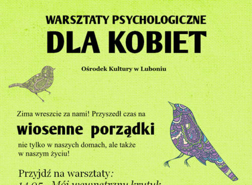 Warsztaty psychologiczne 2013