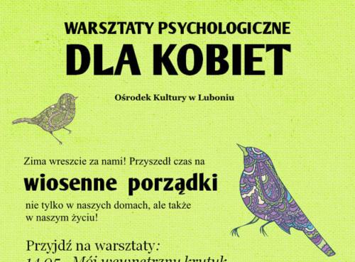 Warsztaty psychologiczne 2013